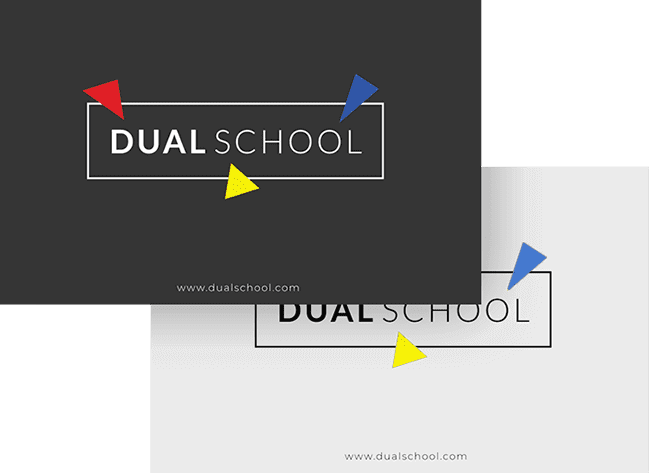 Dual School Branding Identity