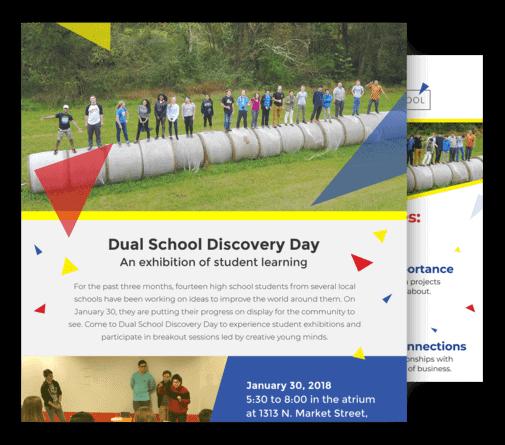 Dual School Invitations & Program